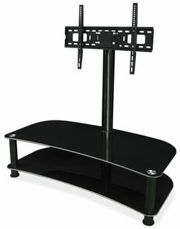 """Mount-It! Glass Shelf with TV Mount Stand Fits 32"""" - 70"""" Scr"""