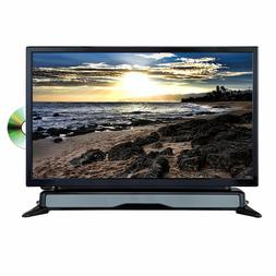 "New Axess 24"" HDTV LED LCD Television DVD Player with SoundB"