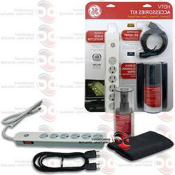 NEW GE 73550 HDTV 3 IN 1 ACCESSORIES KIT CLEANER,HDMI CABLE