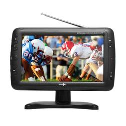 NEW Axess 9-Inch LCD TV w/ ATSC Tuner, Rechargeable Battery