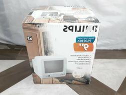 "Philips PR0930X401 9"" Color Kitchen White Retro TV CRT Gamin"