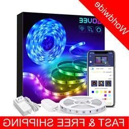 Smart WiFi LED Strip Lights Home Kitchen TV Brighter 5050 LE