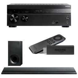 Sony STRDH770 Home Theater AVReceiver, HTCT390 SoundBar w/ A