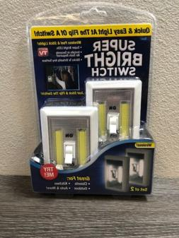 Super Bright Switch LED Nightlight White  As Seen on TV - Wi
