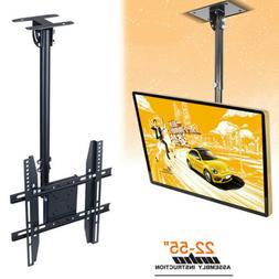 Telescoping Tilt Swivel Ceiling Hanging TV Wall Mount Bracke