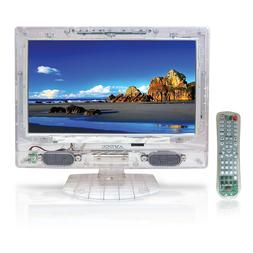 "Axess Transparent 13.3"" clear TV with Clear Remote"