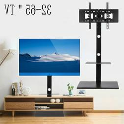 TV Floor Stand Mount With Component Multilayer Shelves For 3