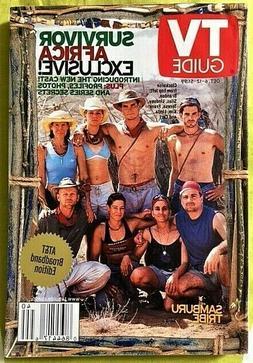 TV GUIDE Magazine October 6 2001 SURVIVOR AFRICA Samburu Tri