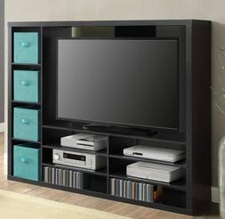 TV Stand Entertainment Center Wood Media Console Storage Hom