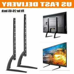"Universal Tabletop TV Stand Pedestal Base Mount for 26""- 65"""