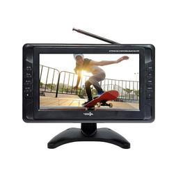 "Axess TV1703-10 10"" Portable TV ATSC/NTSC with Rechargeabl"