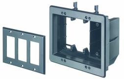 Arlington TVBU507BL-1 TV Box Recessed Outlet Wall Plate Kit,
