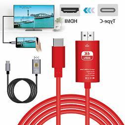 USB-C Type-C to HDMI HDTV AV TV Adapter Cable 4K For Samsung