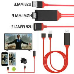 USB to HDMI TV Adapter HD1080 OTG MHL Charger Cable for iPho