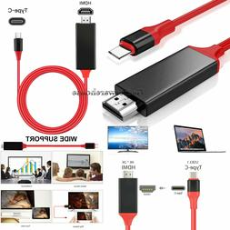 USB Type C to HDMI HDTV TV Cable Adapter Converter For Andro