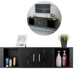 Wall Mount Storage Cabinet kitchen Living Bath Room Shelf TV
