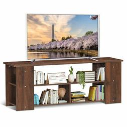"""Wood Storage Cabinet TV Stand for TVs up to 50""""-Coffee"""
