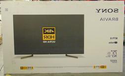 "Sony XBR-75X900F 75"" 4K Ultra HD  Smart LED TV Wi-Fi XBR75X9"